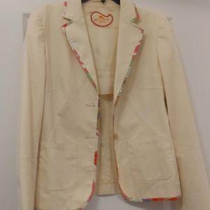 Etro Milano womens cream blazer size 42